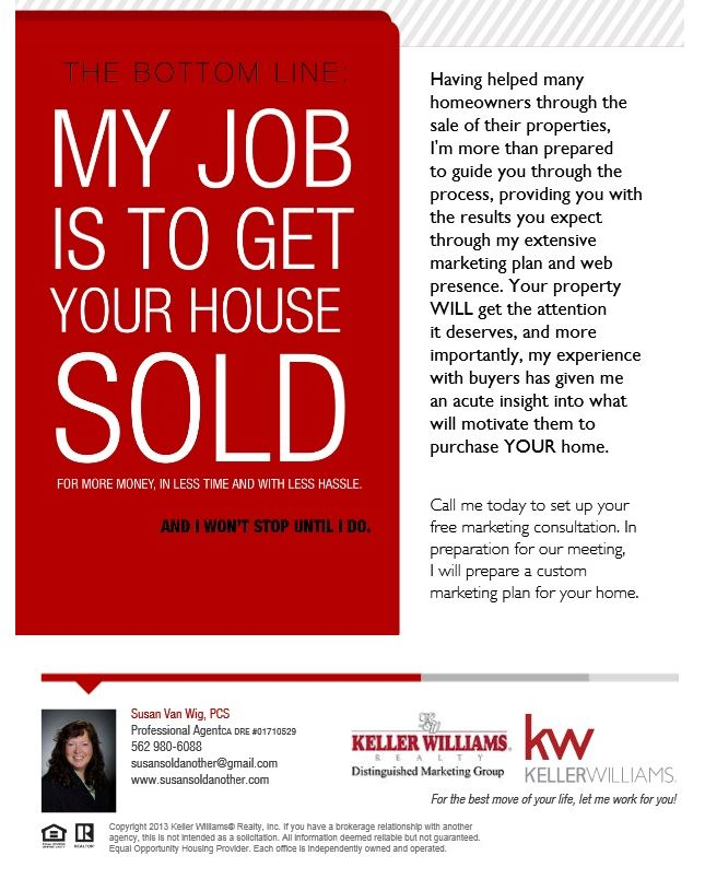 My Job is to get your home SOLD!