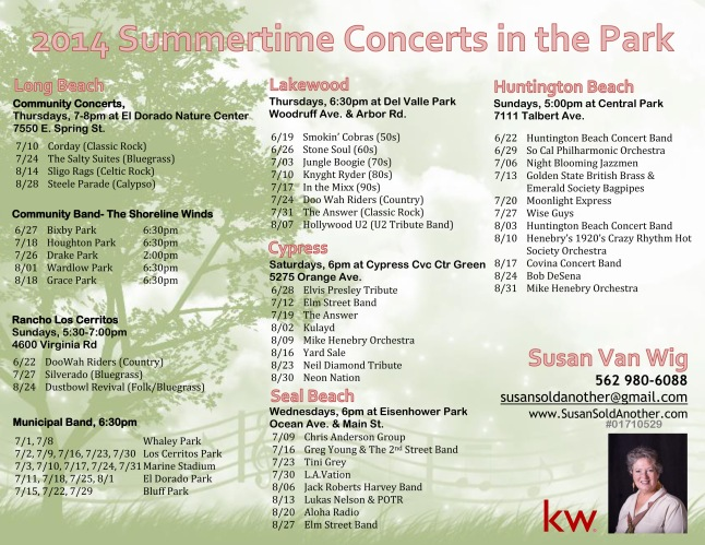 2014 Summertime Concerts in the Park